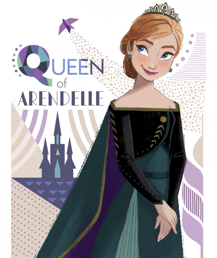 Frozen 2 Anna queen of Arendelle new official art