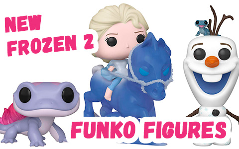 Funko released 3 new Frozen 2 figures: Elsa Riding Nokk, Salamander Bruni and Olaf with Fire Salamander