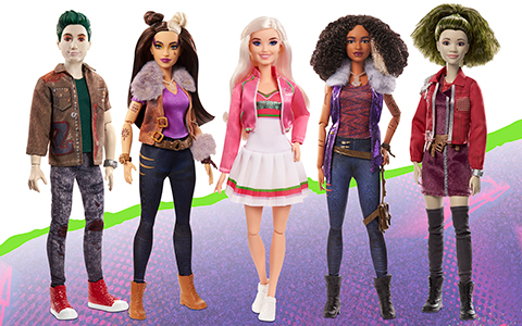 Disney Zombies 2 dolls from Mattel: Addison, Zed, Willa, Eliza and Wynter fashion dolls