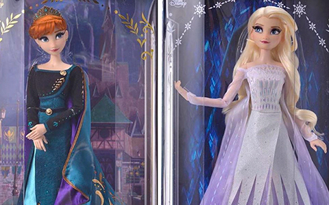 "New detailed photos of Elsa and Anna Frozen 2 16"" Limited Edition dolls - Elsa Snow Queen and Anna Queen dolls"