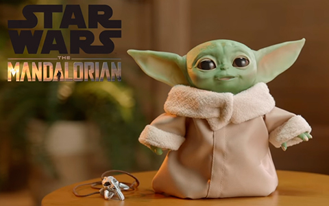 The Mandalorian Baby Yoda Animatronic toy from Hasbro