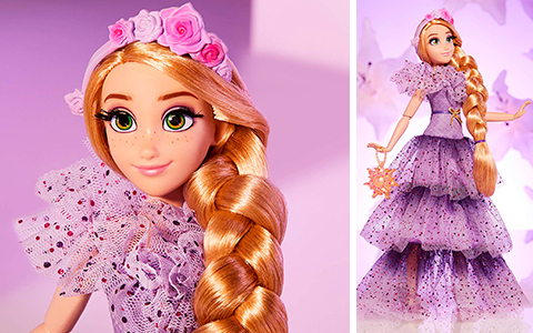 Disney Princess Style Series Rapunzel doll stock photos