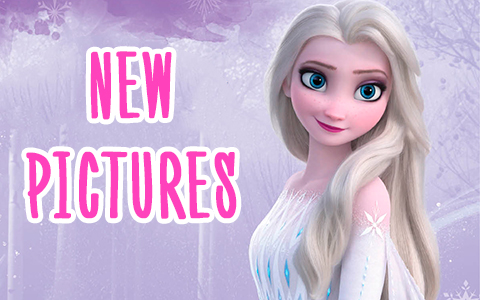 More new Frozen 2 pictures of Elsa in white dress, hair down, fifth spirit outfit