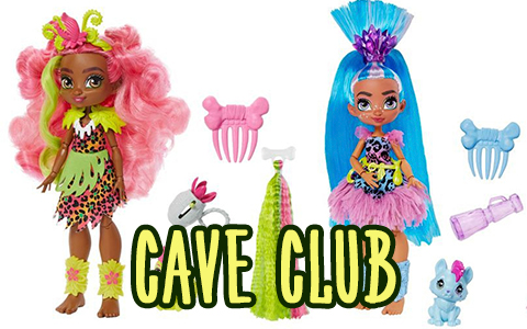 New Mattel Cave Club dolls stock photos of the dolls with release date in Summer