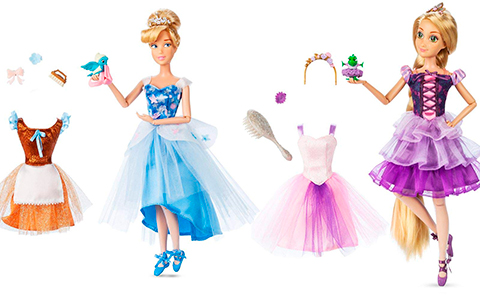 2020 Disney Princess ballerina dolls Rapunzel, Cinderella, Jasmine and Belle from Disney Store