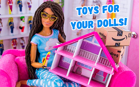Worlds Smallest Barbie Dreamhouse and other toys for doll house from  MyFroggyStuff Amazon Mega Haul