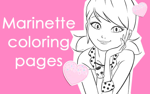 Miraculous Ladybug coloring pages with Marinette