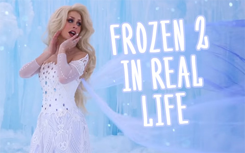 Frozen 2 SHOW YOURSELF in real life amazing clip