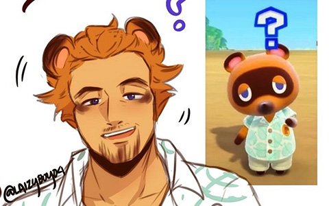 Animal Crossing New Horizons Humanization art