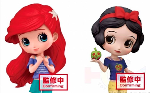 Disney Comfy Princess Ariel and Snow White Q Posket figures from Banpresto