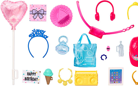 New super cute Barbie Fashion Accessory Packs: Birthday, Singer, Movie Night, Summer Weekend