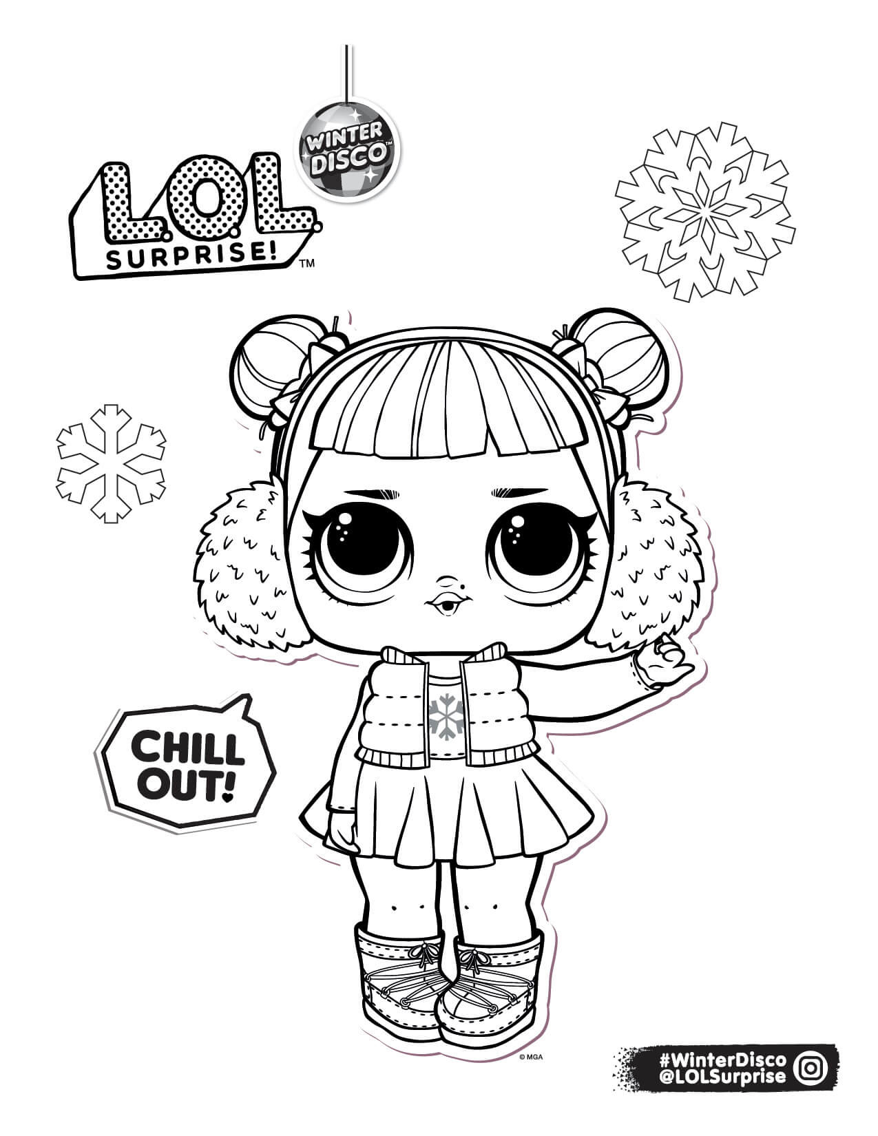 - LOL Surprise Winter Disco Coloring Pages - YouLoveIt.com