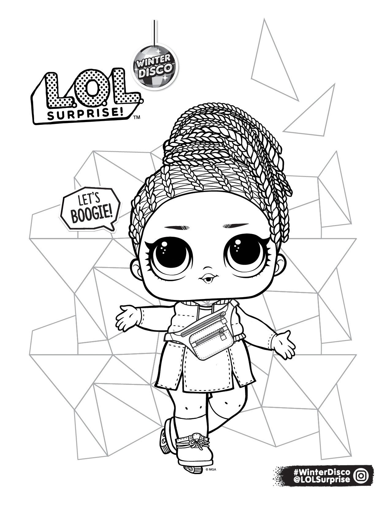 Lol Surprise Winter Disco Coloring Pages Youloveit Com