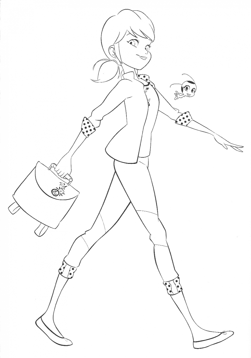 Miraculous Ladybug Marinette coloring pages free