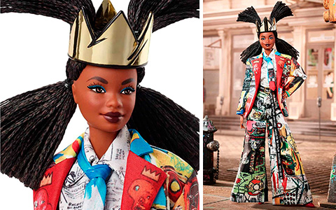 Jean-Michel Basquiat Barbie doll promo images and detailed information