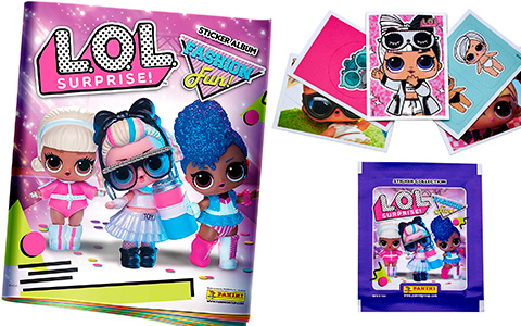 LOL Surprise Fashion Fun panini new stiker album