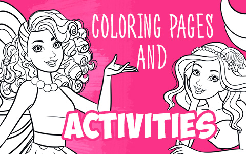 Barbie New Coloring Pages With Fun Activity For Kids - YouLoveIt.com
