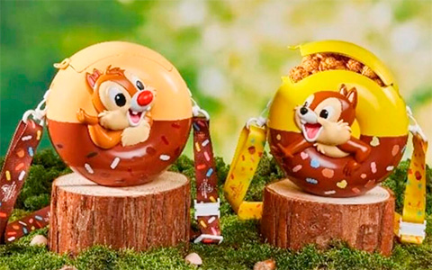 Super CUTE Donut shape popcorn buckets with Chip and Dale