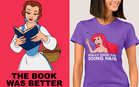 Disney Princesses T-Shirts with cool text