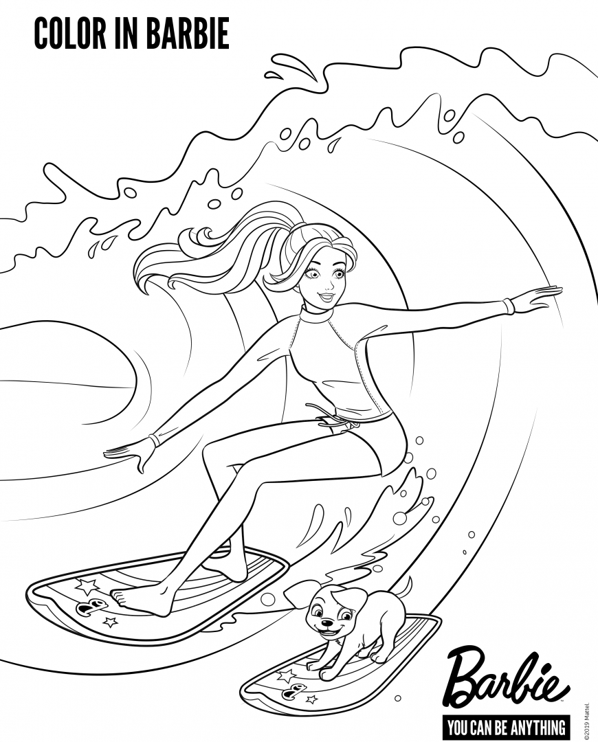 Barbie new coloring pages with fun activity for kids
