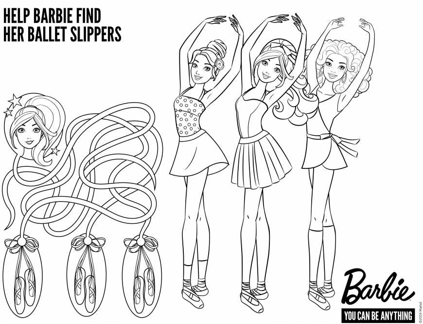 Coloring page Barbie Balerina