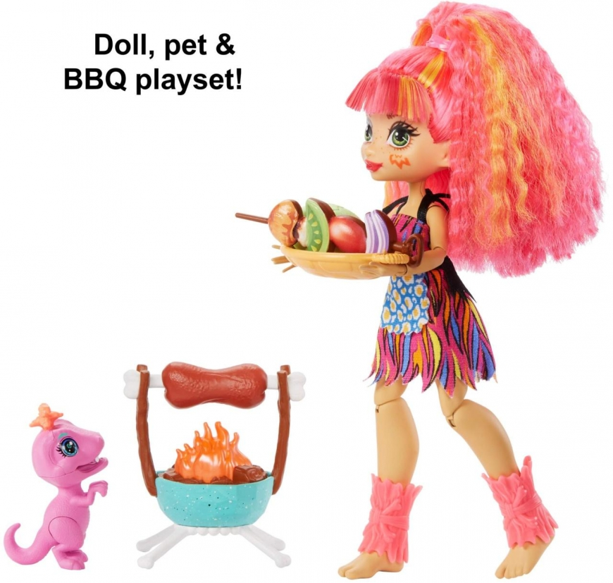Cave Club Wild About BBQs Playset with Emberly doll