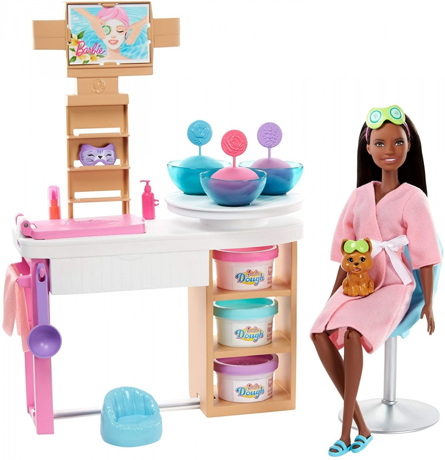 Barbie Face Mask Spa Day - a super cute spa playset with Barbie doll