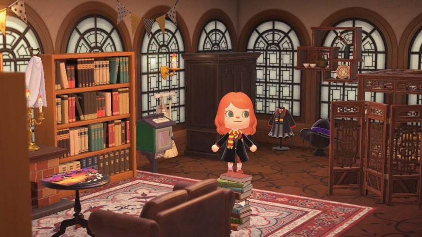 Animal Crossing New Horizons Harry Potter QR Codes and Custom Designs Codes