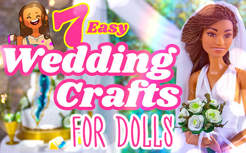 7 Easy miniature DIY Wedding Crafts for Barbie dolls