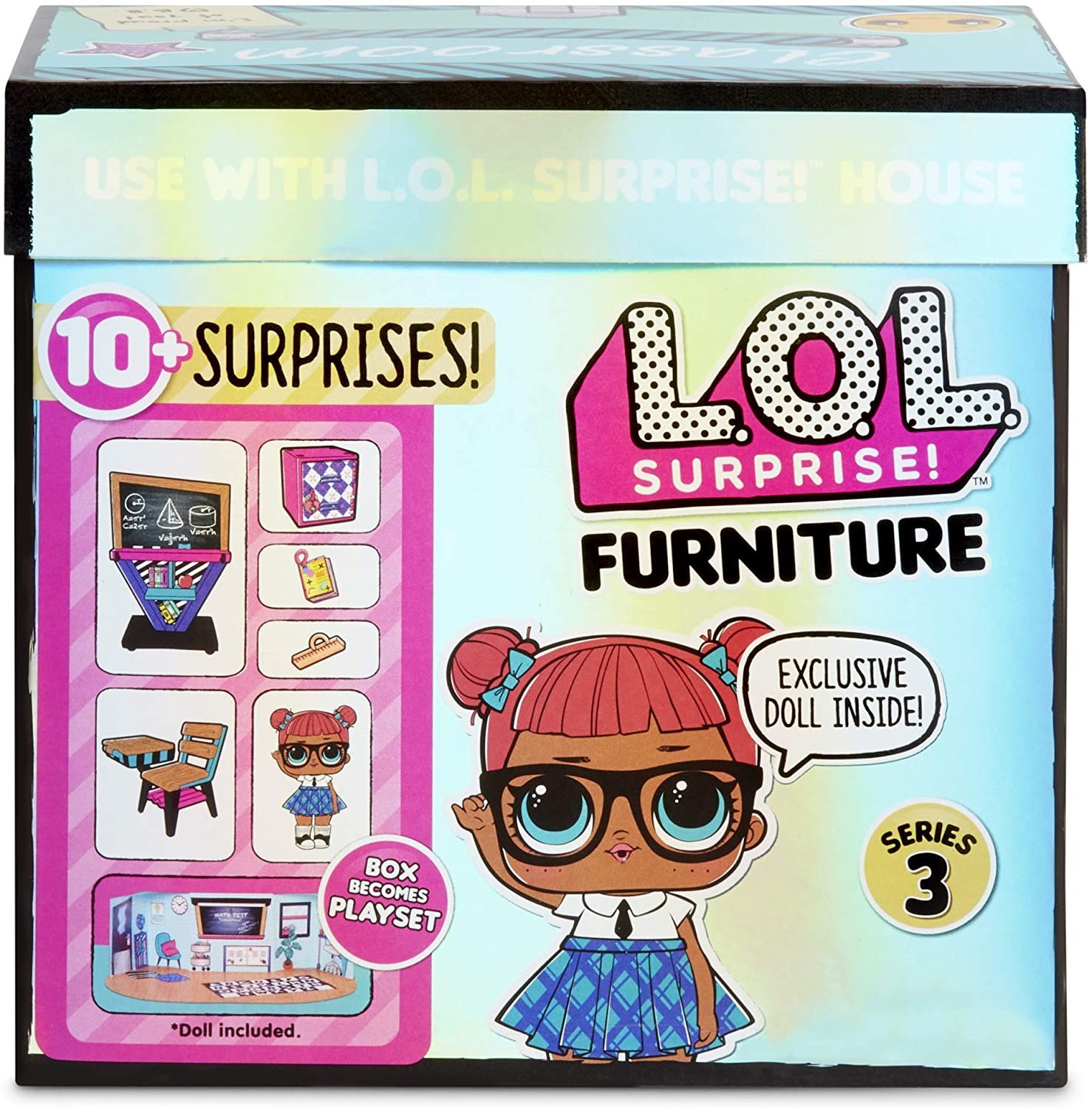 Surprises Furniture Series 3 Roller Rink w// Roller Sk8er /& 10 Surprise L.O.L