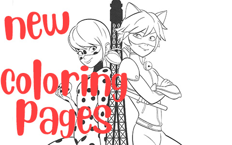 New beautiful Miraculous Ladybug coloring pages
