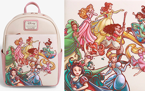 Loungefly new summer release - Disney Princess Sketch Mini Backpack