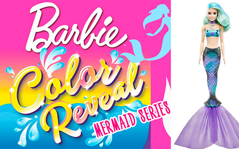 Barbie Color Reveal Mermaid Series: Barbie, Chelsea and Mer-Pets coming this summer