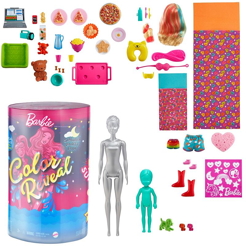 Barbie Color Reveal Slumber Party Fun Set