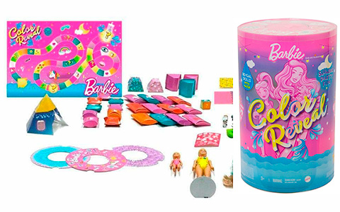 Barbie Color Reveal Slumber Party Fun Set, 50+ Surprises