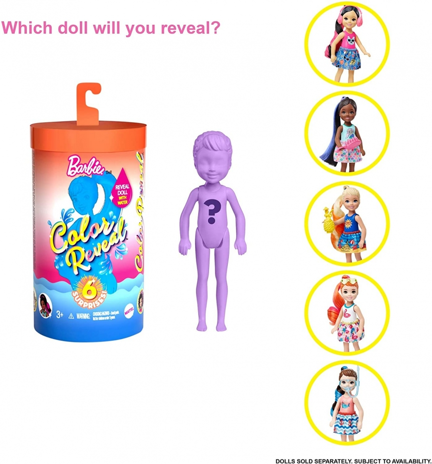 Barbie Color Reveal Chelsea series 2 dolls