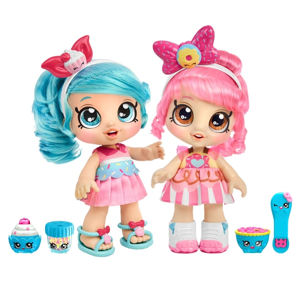 Kindi Kids Toddler Doll Exclusive Twin Pack - Jessicake & Donatina