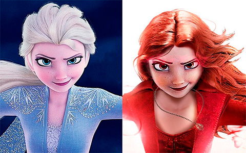 Frozen 2 characters has transformed into Marvel Avengers