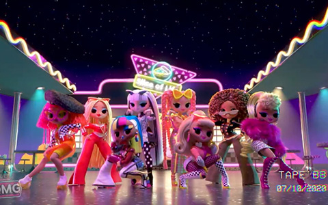 LOL OMG song Extra and new clip with animated OMG dolls