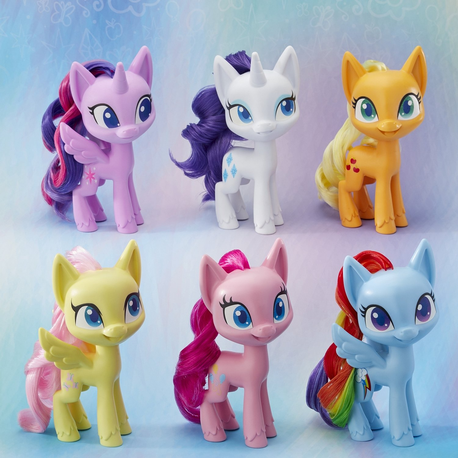 "Hasbro My Little Pony Mega Collection Pack 6 x 6/"" Pony figures Toys"
