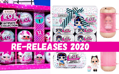 LOL Surprise Series 1, Confetti Pop, Under Wraps, Pets series 1 re-releases 2020!