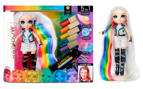Rainbow High Hair Studio with exclusive Amaya Raine doll