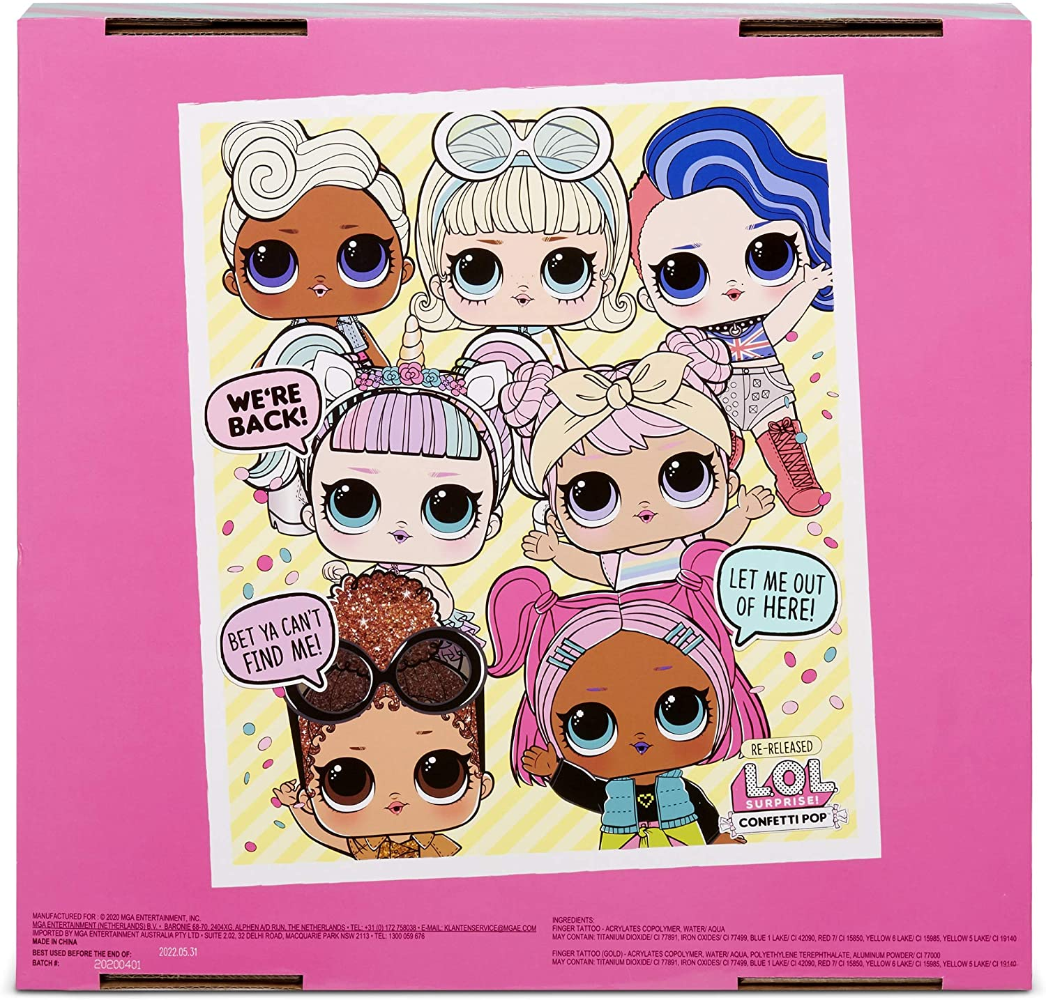 Lol Surprise Confetti Pop Re Release Is Now Available Online Youloveit Com