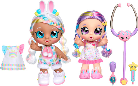 Kindi Kids bunny Dress up Marsha Mello and Shiver 'n' Shake Rainbow Kate dolls are available for preorder