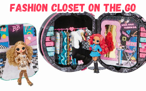 LOL OMG Fashion Closet On The Go with exclusive accessories for dolls