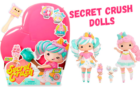 Secret Crush 2 dolls - 13-inch Large Doll with Mini Doll Best Friend