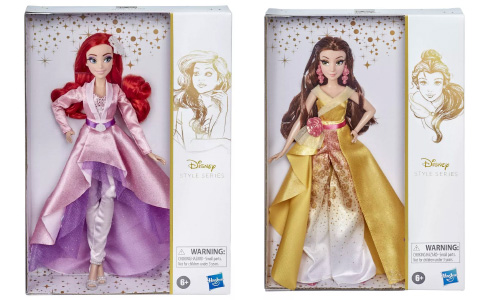 Disney Princess Style Series new Belle and Ariel dolls in elegant pants