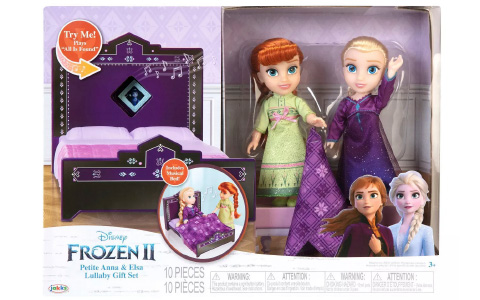 Disney Frozen 2 Petite Anna and Elsa Lullaby Gift Set with 2 dolls