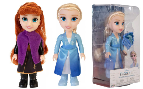 Disney Frozen 2 Adventure Petite single Elsa and Anna dolls from Jakks