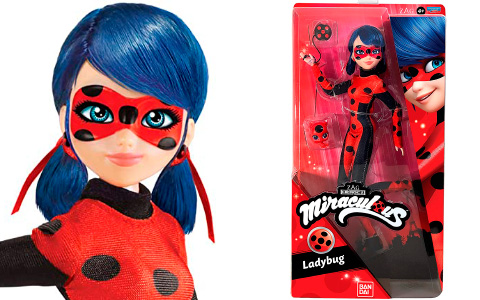 New Miraculous Ladybug dolls from Playmates. Ladybug, Cat Noir, Rena Rouge, Queen Bee